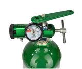 Mini regolatore dell'ossigeno del manicotto d'ottone, 0 - 25 LPM, collegamento di 870 Cga