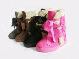 Зимы типа ребенка ботинки снежка горячей теплой мягкие с снежинкой