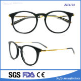 Soflying Casual Acetato Quadros Optical Eyewear com Metal Temple