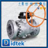 Didtekのギヤボックスおよび手動ハンドルが付いている高圧2PC鋳造物の鋼球弁の柔らかいシール