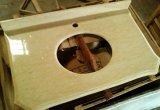Badkamers van de Verdeler van Egypte Perlato Sf de Beige/de Marmeren Bovenkant van de Ijdelheid