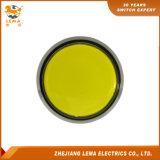 전기 LED 플라스틱 60.8mm 노란 누름단추식 전쟁 마이크로 스위치 Pbs-005