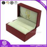 Caixa de presente vermelha da jóia do anel da colar da Lanç-Parte superior do cartão