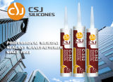 Adhésif de haute résistance sur la puate d'étanchéité de silicones de matériau de construction