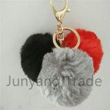 卸し売り最上質の偽造品またはのどのウサギの毛皮Keychain