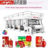 Impresora de alta velocidad respetuosa del medio ambiente de Flexo de 6 colores para el papel, película