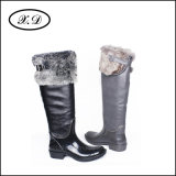 Ботинки женщины дождя способа с высоко верхней