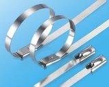 Laços do aço inoxidável de Resuable com curvatura