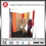Tarjeta laminada compacta para la partición del cubículo del tocador del cuarto de baño