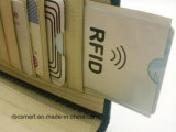 Seguridad de la tarjeta de crédito antirrobo RFID que bloquea las fundas del protector del sostenedor del pasaporte