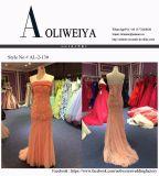 Nixe-rosafarbenes trägerloses Abend-Kleid für Hochzeit