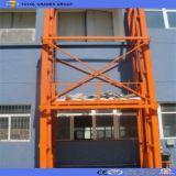 Double levage de levage à chaînes hydraulique extérieur de cargaison de longeron de guide Sjd1.5-5.5