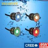 24V RGB LEIDENE van het 1With3WRoestvrij staal OnderwaterLicht van de Pool