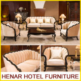 Sofá de madera contemporáneo Muebles para hotel de 5 estrellas