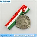 Le métal ouvre le cadeau fait sur commande de promotion de médailles en métal de médaille du football
