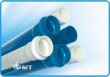 Riga di plastica dell'espulsione del tubo del PVC della macchina dell'espulsore della prova rigorosa