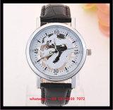 Relógio elegante de quartzo do estilo novo com as cintas de couro genuínas para os homens Fs538