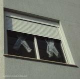 Fenêtre d'obturation à rouleaux d'aluminium métallisé montée sur le dessus