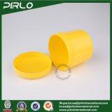 300g 10oz PPのふた空の顔マスクの毛のコンディショナーの瓶が付いているプラスチック装飾的なクリーム色の瓶の黄色カラー毛のワックスのプラスチック瓶