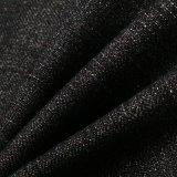 Ткань 100% джинсовой ткани хлопка черная для джинсыов