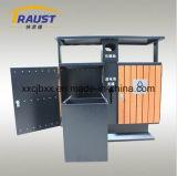 Pattumiere del Curbside di classificazione, legno e pattumiera esterni del ferro