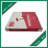 赤いロゴの印刷の段ボール紙ピザボックス