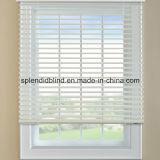 los listones de 50m m un control de la cadena imprimieron las persianas de ventana de madera venecianas de Headrail del metal del alto nivel del control de la cuerda de la cinta de la escala de los listones de las persianas de ventana 50m m