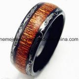 De alta calidad de joyería de carbono azul carburo de tungsteno de fibra de carbón dedo anillo