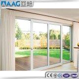 Weiß/Schwarzes/Grau/Brown-Aluminiumrahmen-schiebendes Glas-Tür