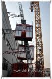 Doppia gru dell'elevatore della costruzione della cremagliera e del pignone della baracca di Gaoli Scq200
