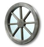 Blocco per grafici di legno dello specchio dell'annata antica nella figura rotonda