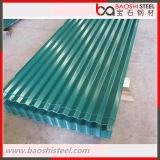 Hoja de acero acanalada galvanizada cubierta color del material para techos del soldado enrollado en el ejército de PPGI