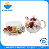 Insieme di tè fine della tazza di Cina di osso di marchio 300ml/5.5 personalizzato ''