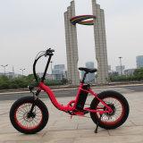 Vente 2016 chaude gros pneu de 20 pouces pliant la bicyclette électrique