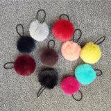 Pompoms falsi della pelliccia delle sfere della pelliccia del Faux del coniglio mini per capelli