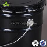 benna nera dello stagno di colore 10L con il coperchio riccio con la maniglia del metallo
