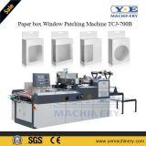 Papierkasten-Fenster-ändernde Maschine Tcj-700b mit dem Kleben