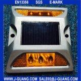 Lumières de réflecteur de sûreté de plot réflectorisé, goujon en plastique r3fléchissant de route