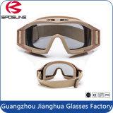 Het Ontspruiten van het polycarbonaat Militaire Beschermende brillen van de Glazen van PC van Transparen van de Glazen van het Oog de Tactische