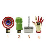 O casco entrega a Avengers da memória Flash do USB a vara do USB do metal