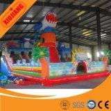 Château gonflable commercial coloré de jeu d'enfants à vendre