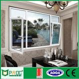 オーストラリアの標準(PNOC0057CMW)の二重ガラスアルミニウム開き窓のWindows