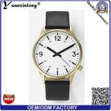 El reloj de señoras vendedor caliente de la promoción de la manera del reloj del cuero de la alta calidad Yxl-350 crea la fábrica del reloj para requisitos particulares del OEM de la voga