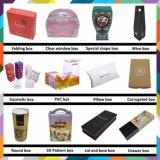 Caja cosmética plegable de alta calidad para productos de cuidado de la piel con logotipo en relieve en forma de astilla