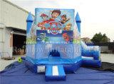 熱い販売の膨脹可能なマンガのキャラクタの警備員およびスライドの子供のための膨脹可能なコンボ