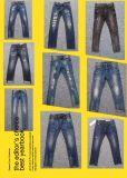 Pantalone portato lavato centrale del denim (HS-77689T)