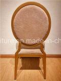 Cadeiras de alumínio barato usadas redondas brancas da parte traseira da tela/coxim de couro