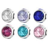 925 Sterling Silver Sweet Cute Round Bead Charm Fit Bracelet & Necklace Acessórios para jóias