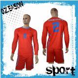 Uniformes de guardien de but d'uniformes du football de chemise de l'équipe des hommes de modèle longs (S030)