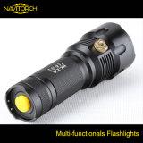 Antorcha recargable de aluminio de la linterna de la caza de la luz de la pesca de Zoomable LED del CREE de 3 Multi-Colores